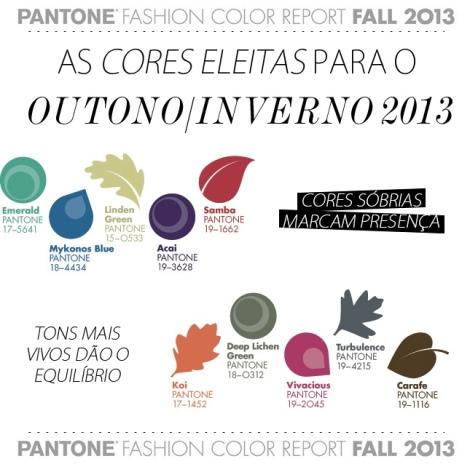 Cores Eleitas Outono/Inverso 2013