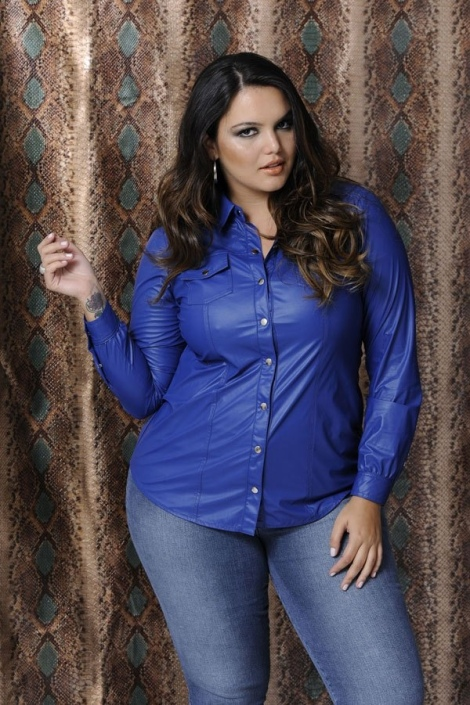 Barbara Machado - Looks: Azul Cobalto Plus Size 1