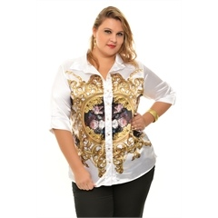Barbara Machado - Looks - Estampa Barroca - Inverno 2013 plus size