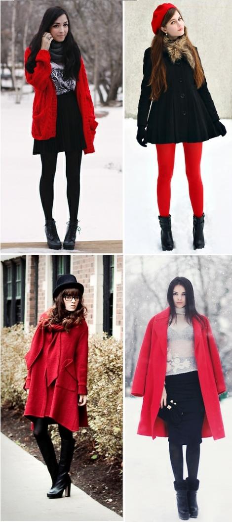 Barbara Machado - Looks - Inverno mais Charmoso - Combinação Preto + Vermelho 6