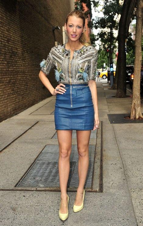 blake-lively-blueminiskirt-namesake-louboutins-streetstyle