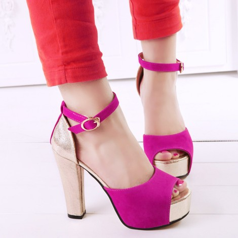 Free-shipping-sandals-for-woman-high-heels-platform-2013-fashion-color-block-decoration-thick-heel-shoes