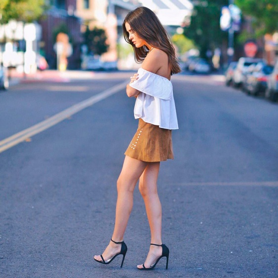 tendência-moda-verão-2015-2016-saia-camurça-sued-suedine-skirt-ombros-de-fora